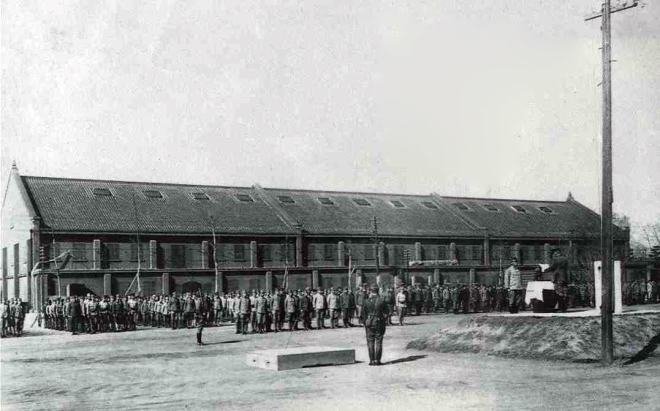 the military uniform depots before the Hiroshima A-bombing in 1944