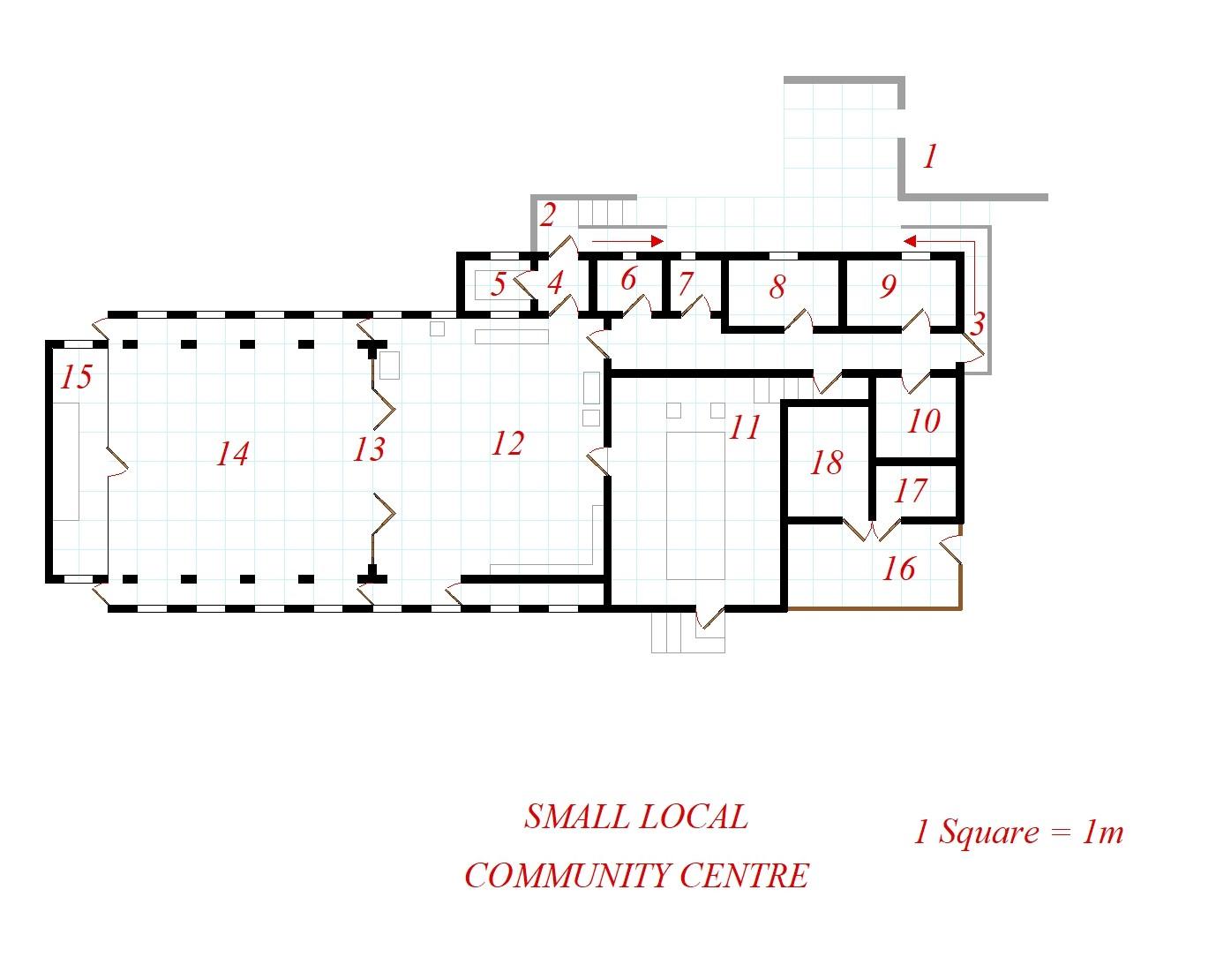 Freebie Small Local Community Centre Map Gethsemane Games