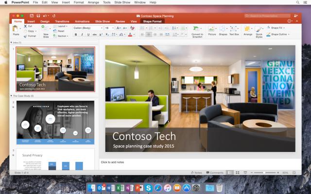 Microsoft Powerpoint 2016 For Mac OS X