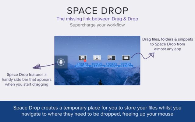 Space Drop For Mac OS X