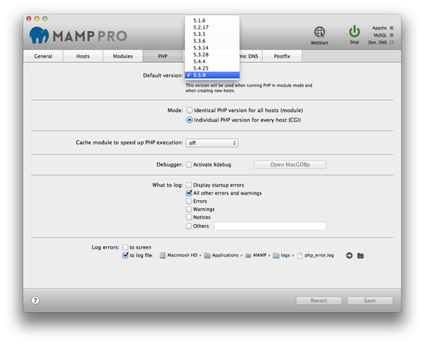 MAMP PRO For MacOSX