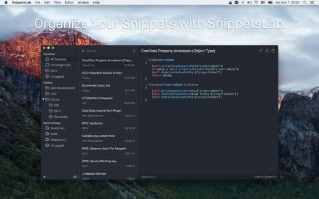 SnippetsLab For MacOSX