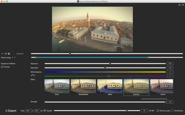 liquivid Video Exposure and Effects For MacOSX