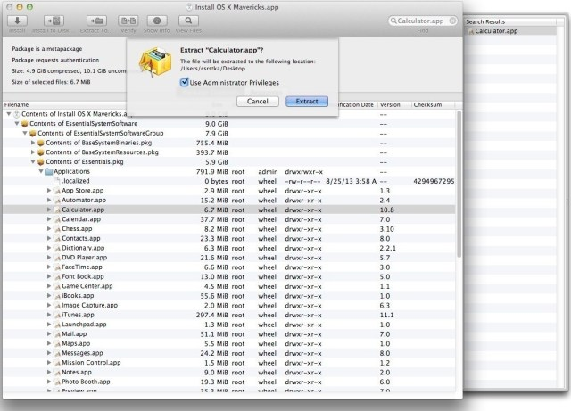 Pacifist for MacOSX