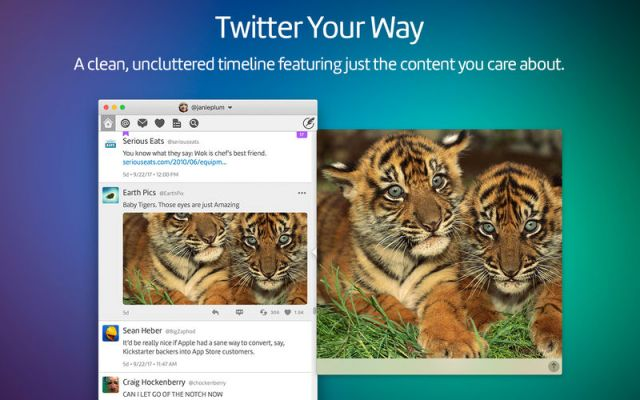 Twitterrific For MacOSX