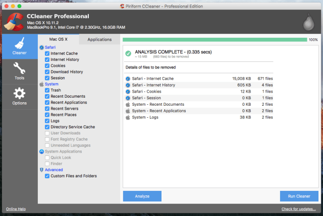 CCleaner Pro MacOS