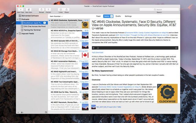 Feeder for mac OS X