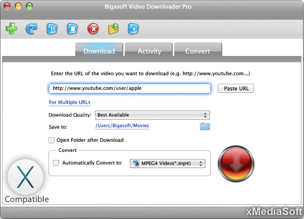 Bigasoft Video Downloader mac