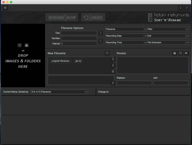 Picture Instruments Sort 'n' Rename Pro Mac