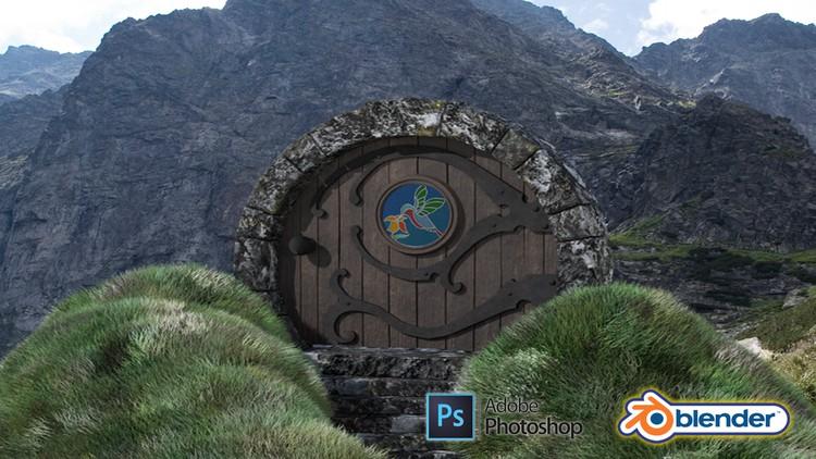 [100% OFF] Blender 2.9 & Adobe Photoshop 3D Modeling a Hobbit Door