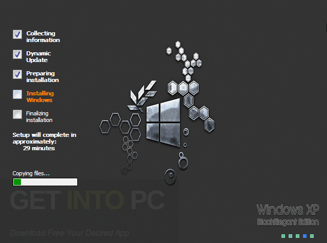 Windows XP SP3 Pro Black Elegant Edition 2017 Download