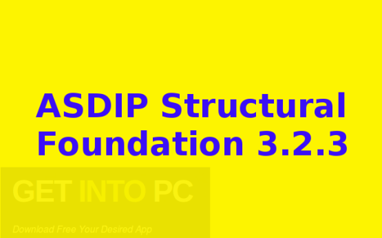 ASDIP Structural Foundation 3.2.3 Free Download
