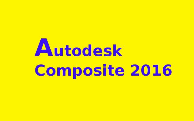 Autodesk Composite 2016 x86 Free Download