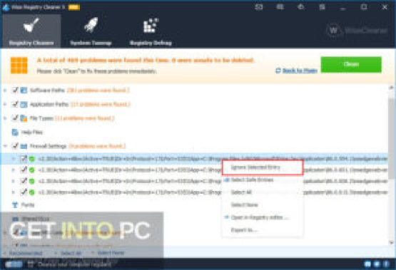 Wise Registry Cleaner Pro Latest Version Download GetIntoPC.com