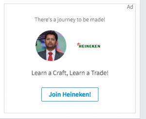 Heineken LinkedIn Ad