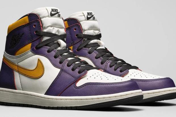 """Nike SB X Air Jordan 1 """"Lakers"""" & """"Light Bone"""" Official Images"""