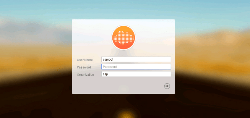 nuage VSD login screen