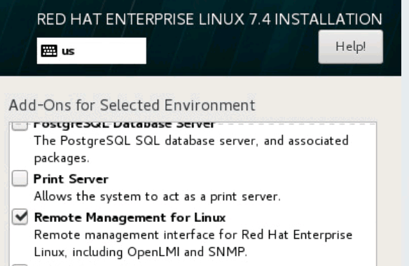 enable snmp on redhat servers during installation