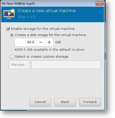 define the storage for the windows 10 vm