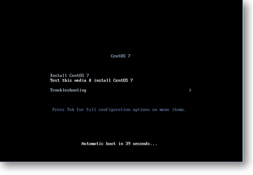 installation of CentOS vm in KVM