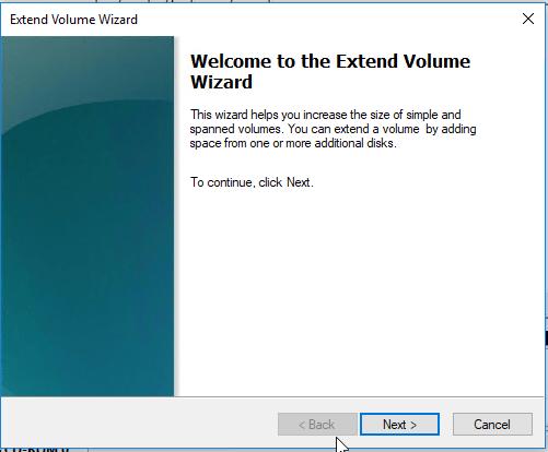 extend windows volume in kvm