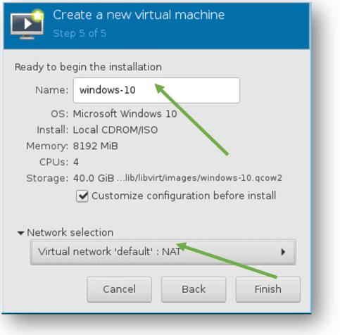 windows vm network configuration in KVM