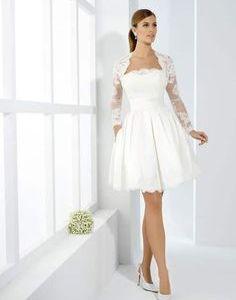 Vestido de novia corto desde