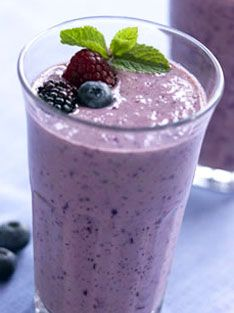 Berries smoothie for an afternoon snack