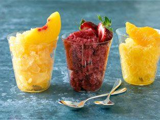 Fruit sorbet for a snack