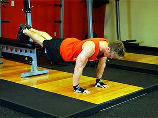 Workout 1: Feet elevated push up