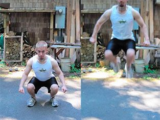Workout 3: Jump squats