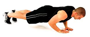 Push-ups exercise to get shredded