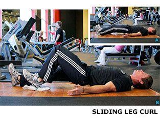 Program 2: Sliding leg curl workout