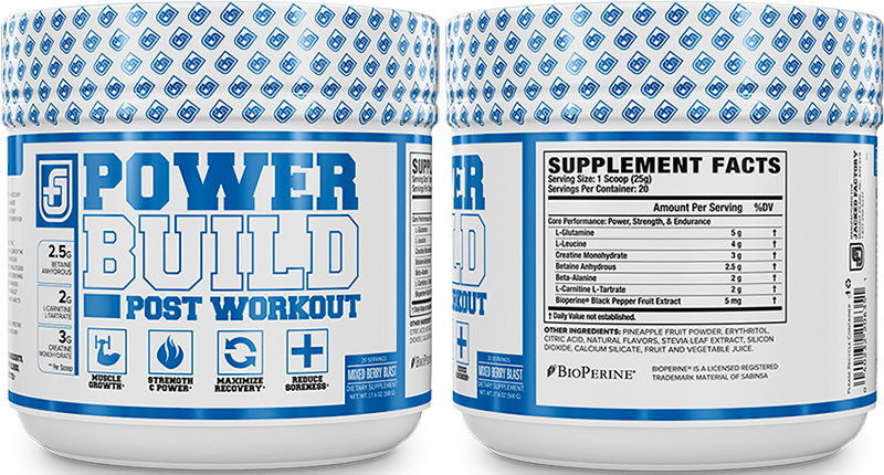 Powerbuild post workout by Jacked Factory