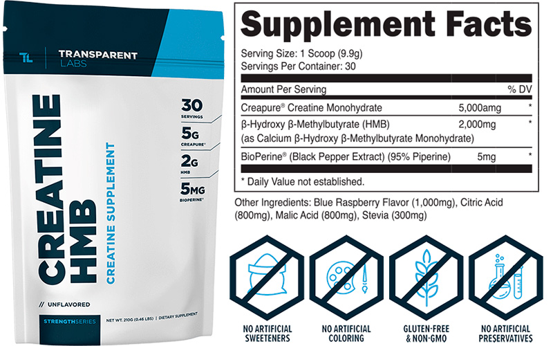 Creatine HMB Supplement by Transparent Labs
