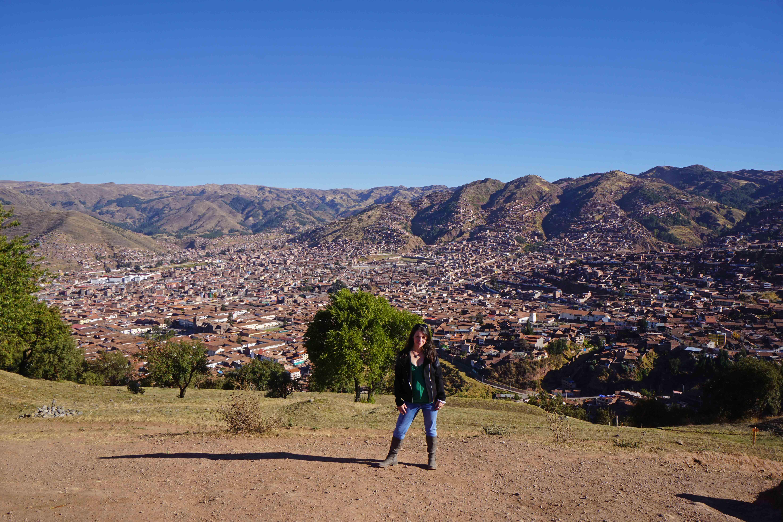 Standing above Cusco, Peru