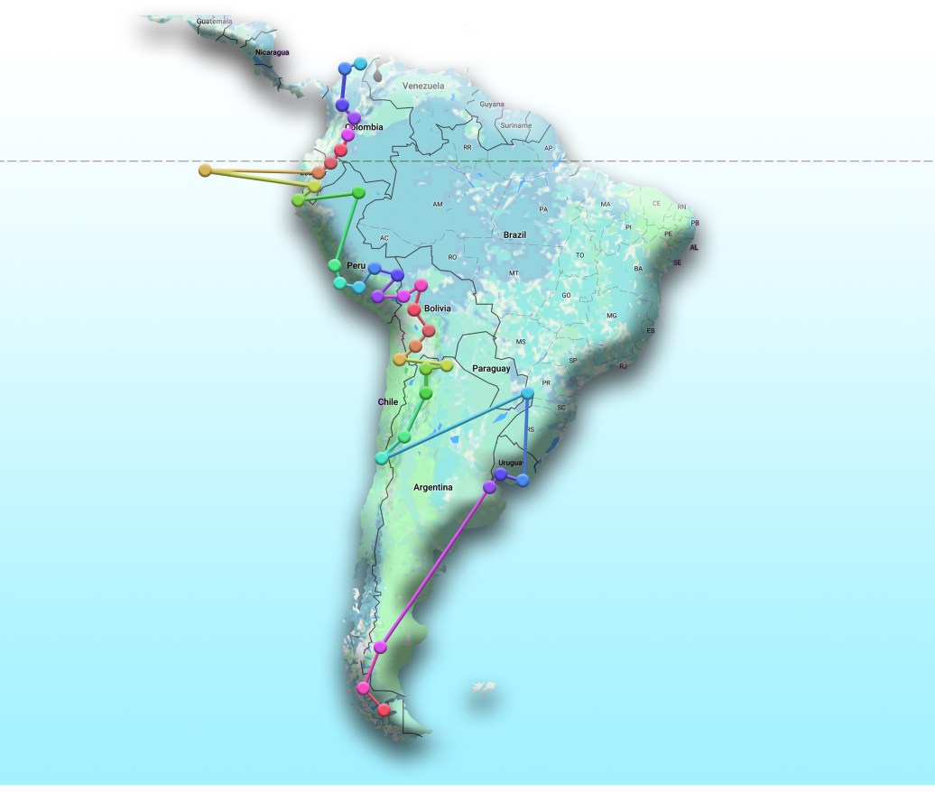 South America Map wordless 2