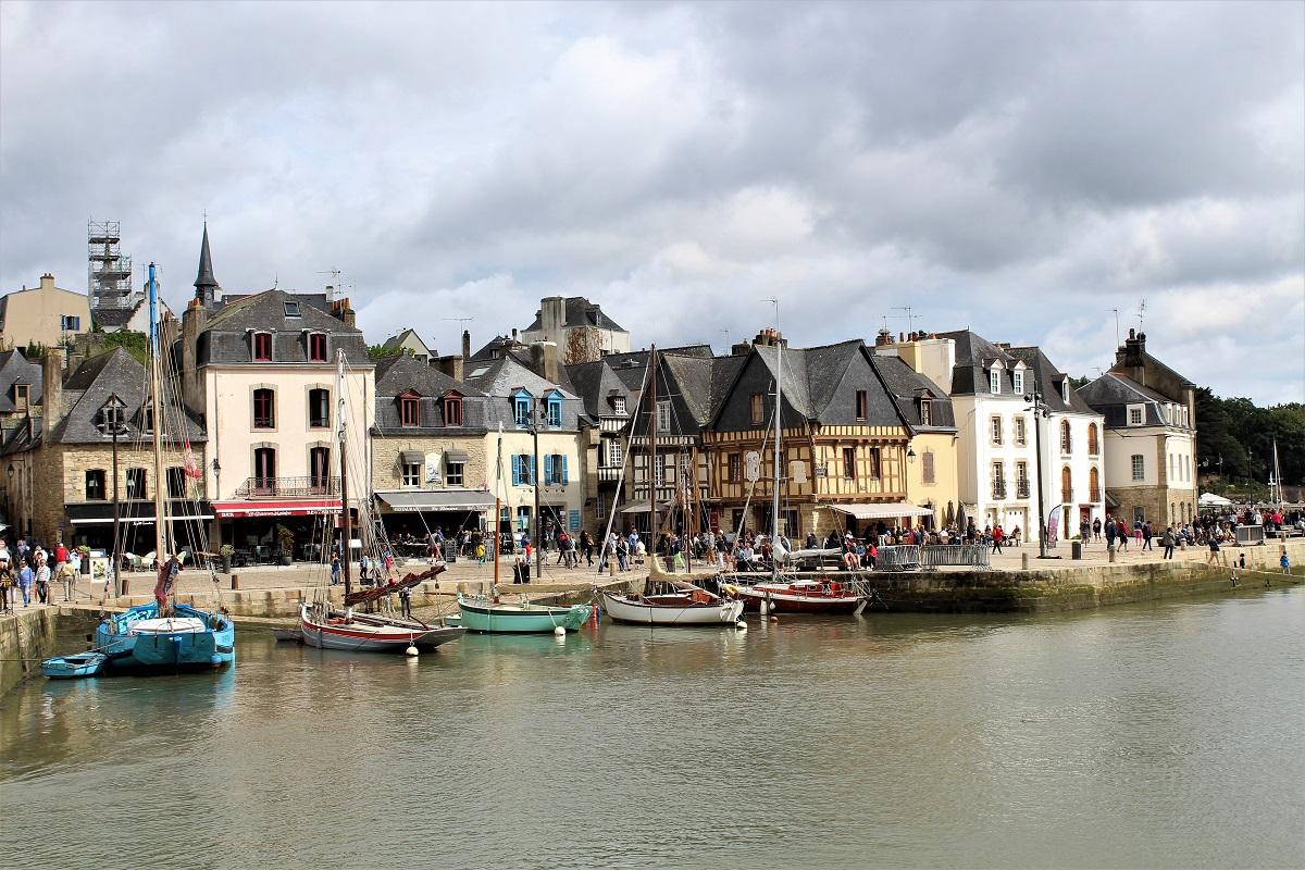 Auray port de saint goustan quai frankllyn
