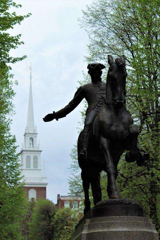 Boston Freedom Trail -Statua di Paul Revere