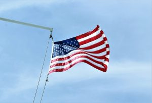 Martha's Vineyard e star and stripes flag