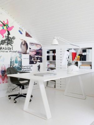 An energetic and eclectic workstation.