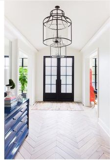 An airy entrance is perfect for an open floor plan.