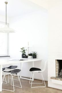 A Nordic inspired dining room.