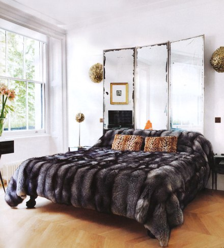 Animal prints and fur are a sure way to add zest to any dull looking bedroom.