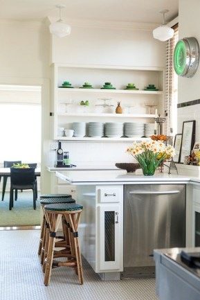 Renovate an outdated kitchen using stainless steel appliances and a polished counter top.