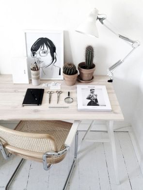 A traditional minimal workstation.
