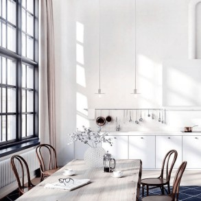 Keep the enviroment light and airy with this whimsical dining set.