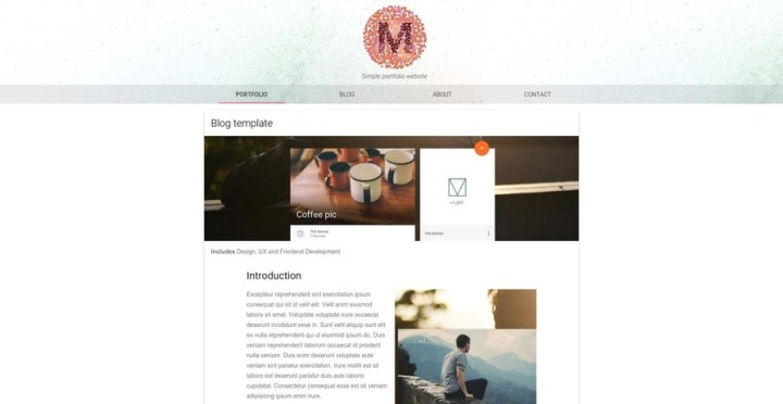 Material Design Light Portfolio Theme - Click to Preview