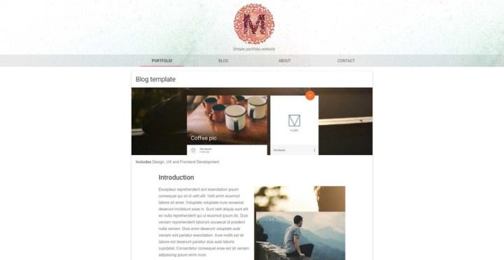 Material Design Light Portfolio Theme - Click to Preview