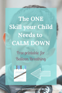 Helping kids calm down | Free printable | Breathing for stress | How to teach breathing techniques to kids | Exercise for children to deal with stress